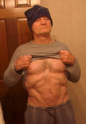 Clarence Bass at 78 by Carol Bass Abs and Hat